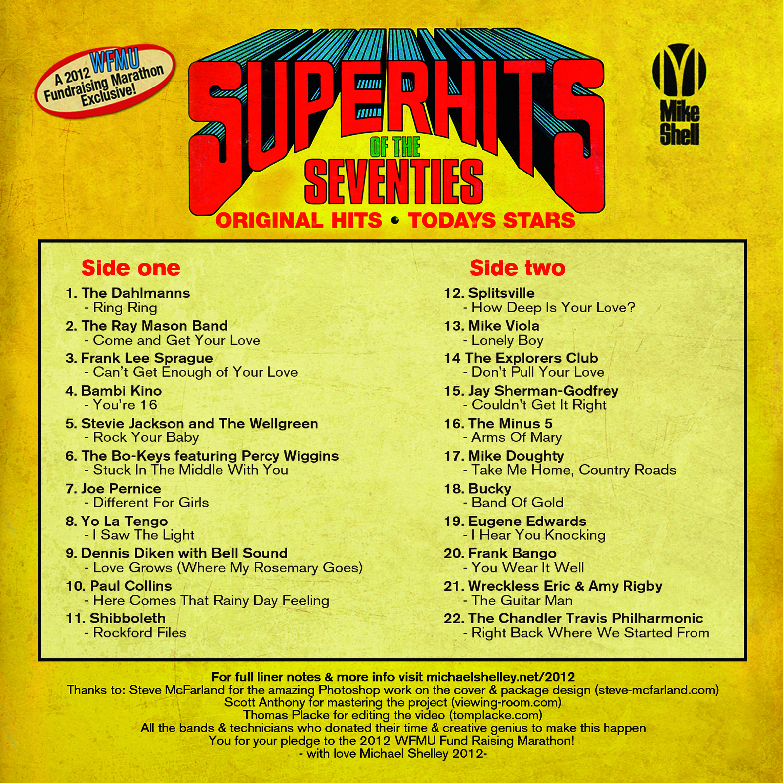 WFMU's Super Hits of the 70's back cover