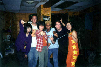 Shonen Knife & The Michael Shelley Band backstage
