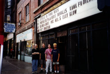 Michael Shelley Band outside The Double Door, Chicago