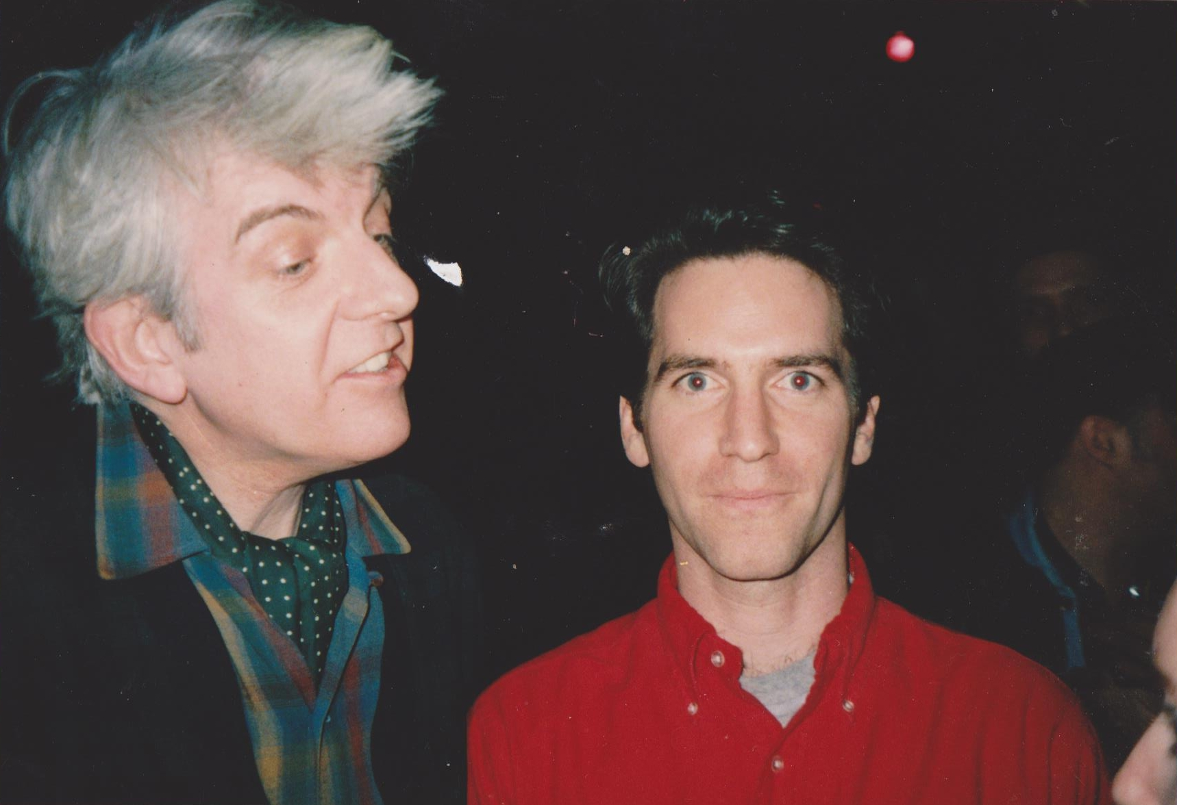 Nick Lowe and Michael Shelley 10 years ago